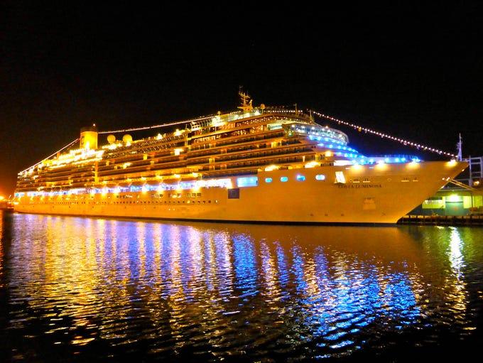 """Nicknamed the """"Ship Of Light"""", Costa Cruises 92,600-gross"""