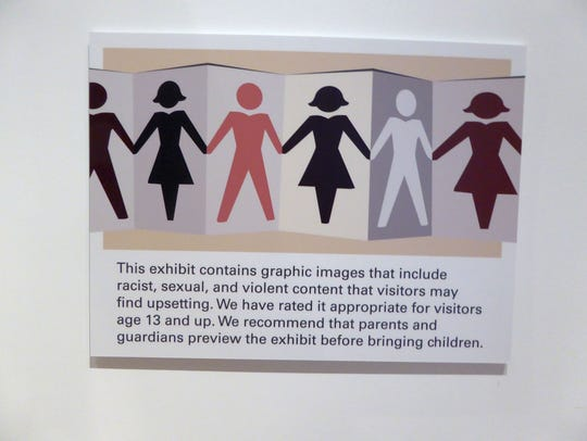 This images shows a warning posted at the start of