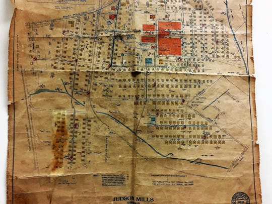 This 1930s era map of the Judson community hangs today