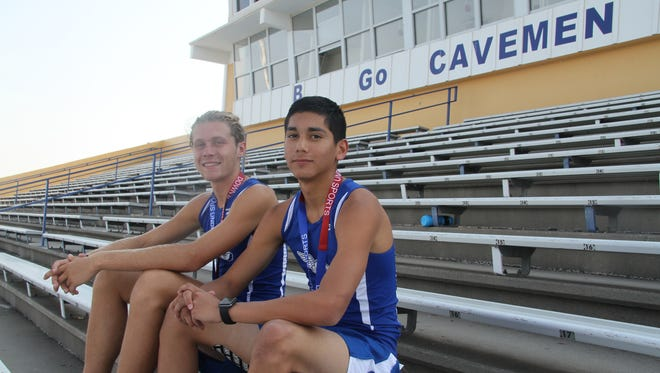 Track athletes Austin Atencio and Xander Elizando, pictured on Sept. 6, 2017, competed in Down Under Sports in Australia in July. The duo were the only Carlsbad, New Mexico, representatives.