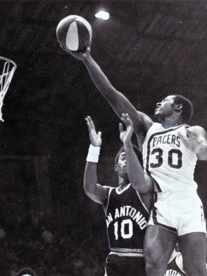 Undated picture by Charles A. Berry of Pacers player George McGinnis.