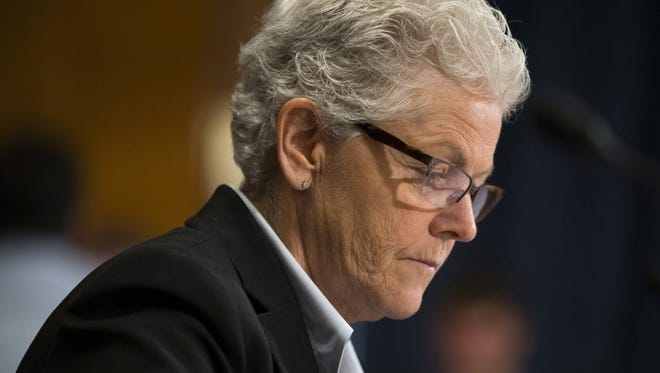 EPA Administrator Gina McCarthy testifies before Congress in Washington on Sept. 16, 2015.