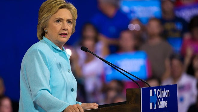 Democratic presidential nominee Hillary Clinton speaks at a campaign rally at Florida International University on July 23, 2016.