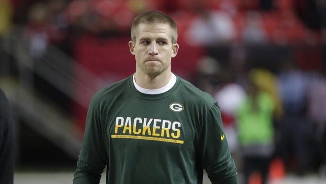 Green Bay Packers receiver Jordy Nelson warms up before Sunday's NFC championship game against the Atlanta Falcons at the Georgia Dome in Atlanta.