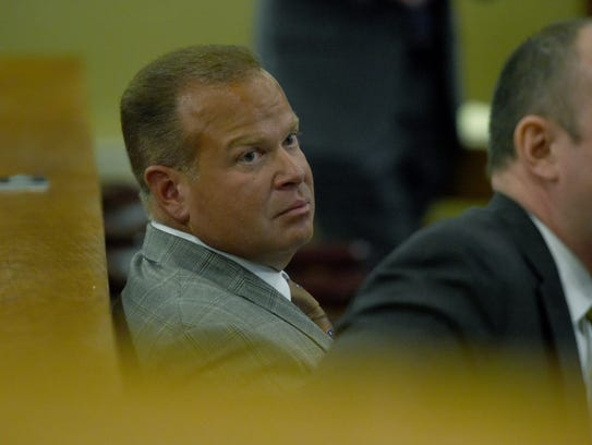 Attorney Bryan Delius waits for a ruling from Sevier
