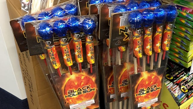 These fireworks were on sale at a Macomb County fireworks shop on Friday, June 16, 2017.