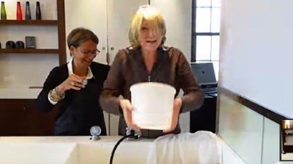Martha Stewart accepts the Ice Bucket Challenge.