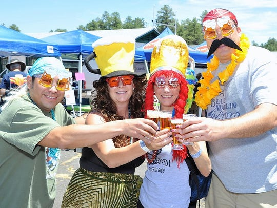 Festival goers at the annual Made in the Shade Beer