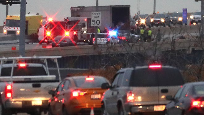 Traffic on northbound I-94 was snarled Wednesday morning with a truck fire that blocked all northbound lanes of I-94 at National Avenue, snarling traffic for the early morning rush hour. Several reports indicated the accident involved a fatality.