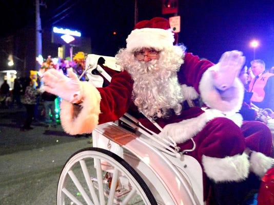 BEST SANTA Staunton Christmas Parade 2013