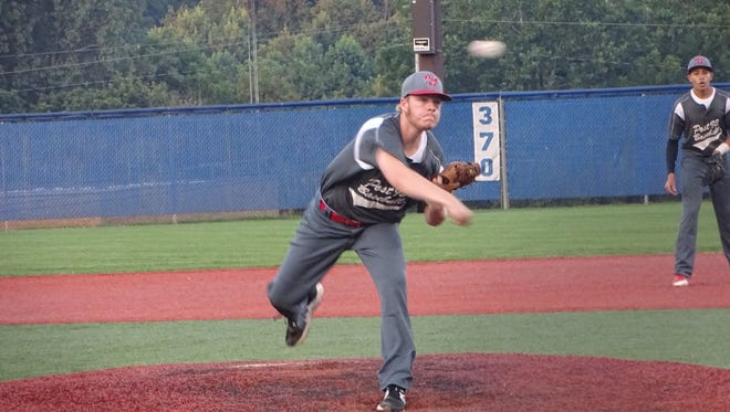 Utica Post 92 right-hander Colton Workman delivers against Circleville Post 134 on Wednesday during an American Legion state tournament game at Beavers Field.