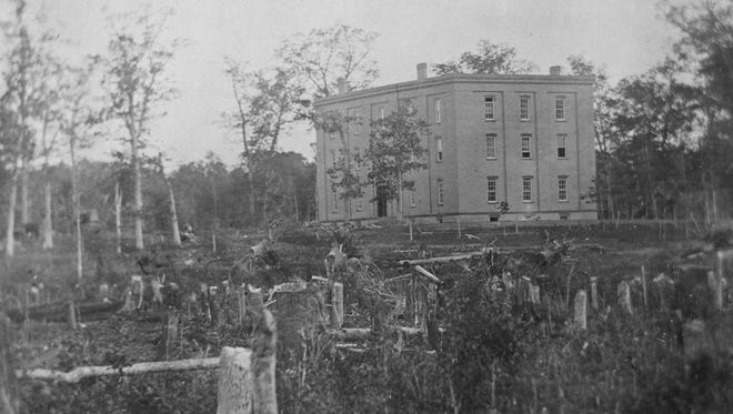 First Building – College Hall, the first building in the United States constructed for agricultural science education, 1856.