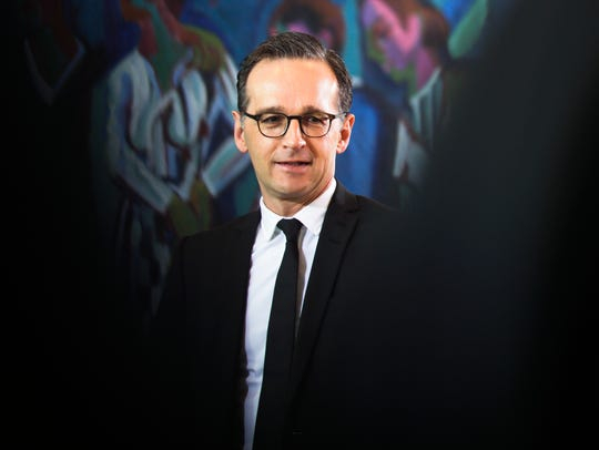 German Justice Minister Heiko Maas arrives for the weekly cabinet meeting of the German government at the chancellery in Berlin.