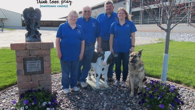 Jerry, Marilyn, Joe and Michelle Neuser from United Vision Dairy.