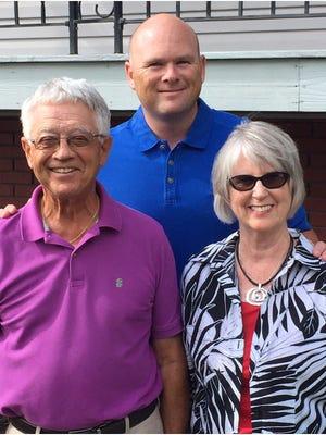 Jon Speaker with his parents Tom and Rosemary Speaker.