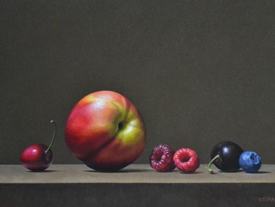 Still life by Patricia Coonrod, one of the new artists