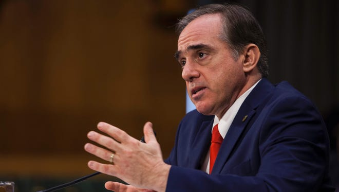Secretary of Veterans Affairs-designate David Shulkin testifies during a confirmation hearing on Capitol Hill on Feb. 1, 2017.