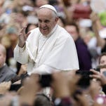 Pope Francis on his way to Mass in Philadelphia.