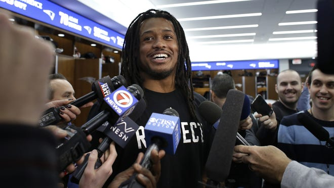 New England Patriots linebacker Dont'a Hightower shown speaking with reporters on Dec. 18, 2019, in Foxborough, recently announced that he's opting out of the 2020 season due to coronavirus concerns.