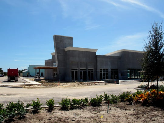 A Starbucks drive-thru is under construction at Restaurant Row Naples along Collier Boulevard in Freedom Square at the intersection of U.S. 41 East.