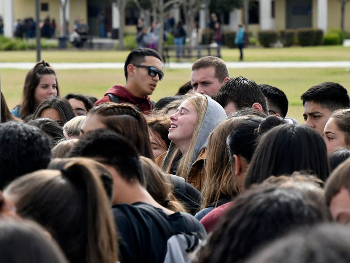 Mission Oak High School students gather at Hawks Landing