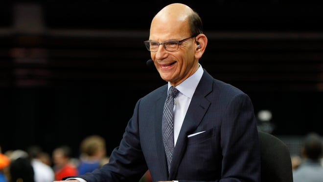 ESPN broadcaster Paul Finebaum during media day at Philips Arena.