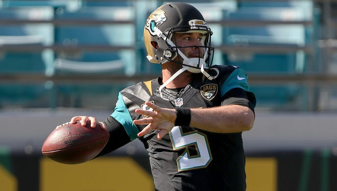 Jaguars QB Blake Bortles has thrown at least 16 INTs in all three of his NFL seasons.