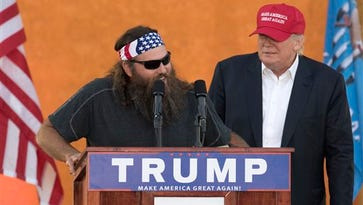 Willie Robertson appeared with Donald Trump during a campaign stop at the Oklahoma State Fair last fall.