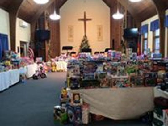 Salvation Army Manitowoc County's Christmas toy drive.