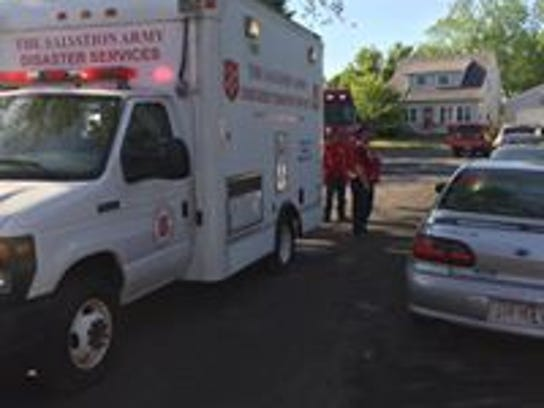 Salvation Army Manitowoc County on the scene of an