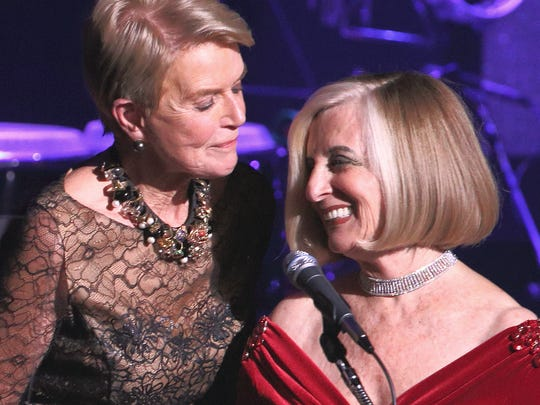 Co-Chair Donna MacMillan and honoree Helene Galen