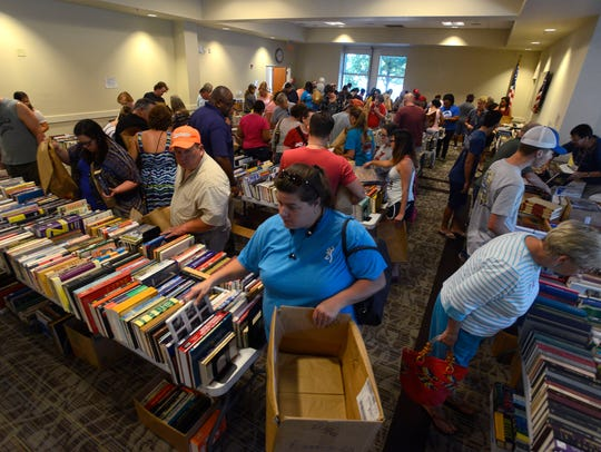 The Friends of West Florida Public Library's book sales help to generate funds for the library system.
