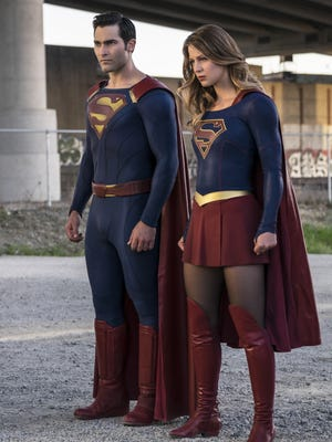 "Tyler Hoechlin, left, seen here with Melissa Benoist in a ""Supergirl"" episode, would play Superman in 'Superman & Lois,' a new series in development at CW."