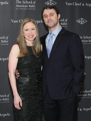 Chelsea Clinton and Marc Mezvinsky.
