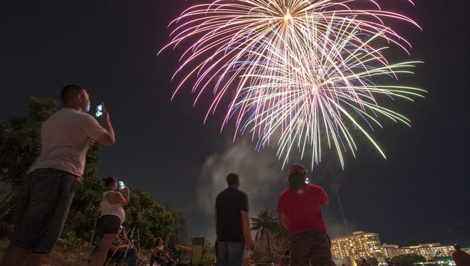 A fireworks display by ShowPro signaled the New Year for Guam residents on Jan. 1, 2013.