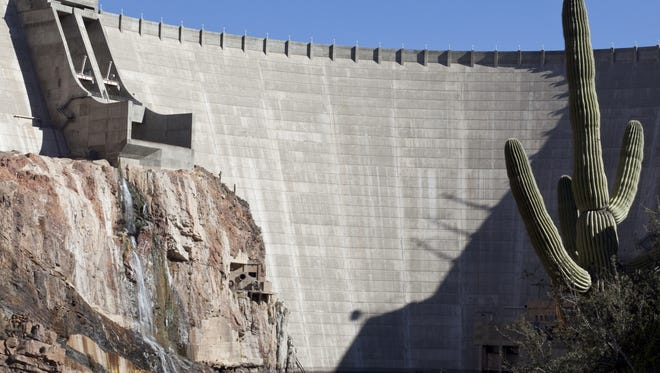 Roosevelt Dam impounds the largest water storage reservoir on the Salt River and the largest  in the SRP system.