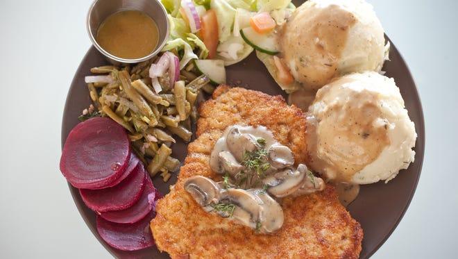 The chicken schnitzel cordon bleu at Beaver Choice restaurant in Mesa.