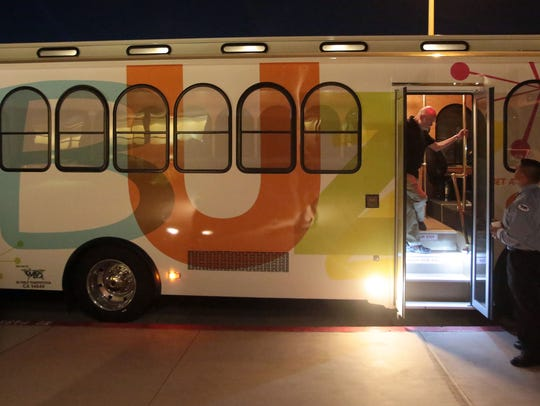 The Palm Springs Buzz trolley line celebrates its first