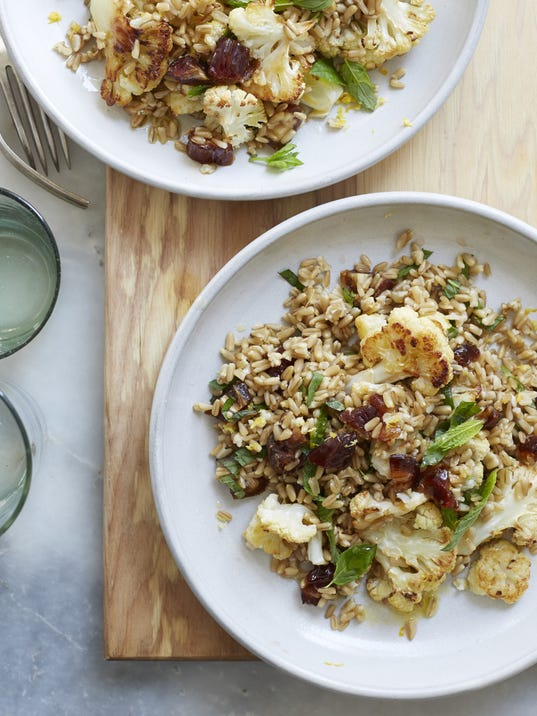 chefchat10-rec Oat Berry Salad with Cauliflower, Dates and Mint