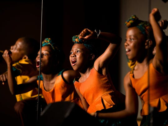 The African Children's Choir performed at the Midway