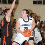 Ryan Bethoney considers his options during last year's game against Milligan College.