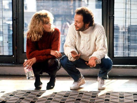 "Meg Ryan and Billy Crystal star in ""When Harry Met Sally."""