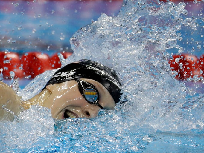 Unites States' Katie Ledecky competes in the women's