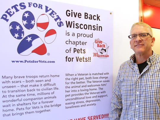 Dan Zealley is executive director of Give Back Wisconsin that is supported by The Popcorn Shoppe at 5632 Parking St. It's first charitable enterprise is contributing to Pets for Vets.