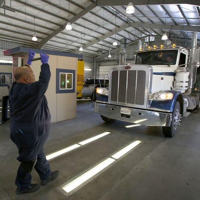 Mike Bentiste, a commercial vehicle inspection specialist,