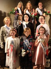 Members of the new Franklin County Dairy Royalty team include, from left: front — Olivia Hartman (Saint Thomas), Stella Martin (Waynesboro), Rebekah Aldrich (Chambersburg); middle row — Shaylin Reichard (Chambersburg), Josephine Hughes (Chambersburg), Sarah Aldrich (Chambersburg); Kelsey Potter (Mercersburg), Addison Piper (Mercersburg), Kelli Woodring (Chambersburg) and Emily Wingert (Chambersburg).