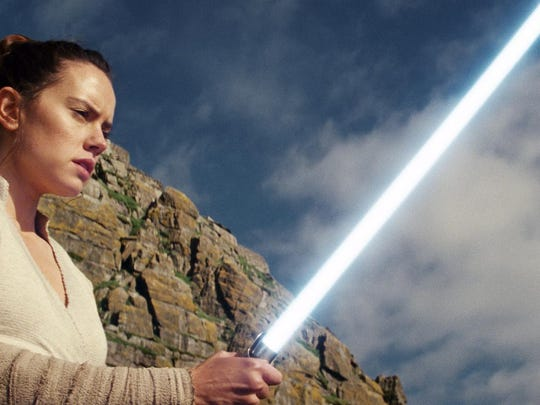 """Daisy Ridley as Rey in """"Star Wars: The Last Jedi."""" The Skywalker saga is coming to an end this December as the latest Star Wars trilogy finishes, and episode IX has a name: """"The Rise of Skywalker."""""""