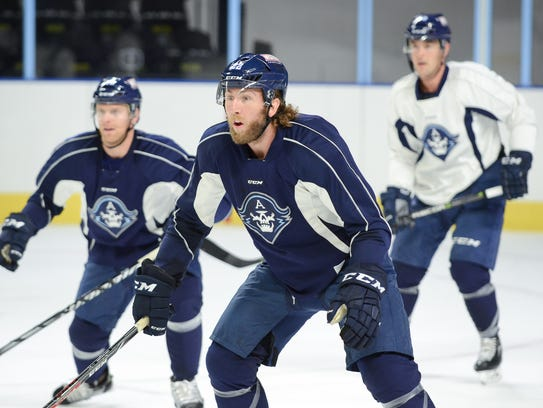 Pierre-Cedric Labrie is an 11-year American Hockey League veteran in his first season with the Milwaukee Admirals.