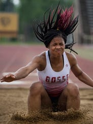 Bosse's Tionee Brigham won three events at the SIAC track and field meet. She took the long jump with a leap of 17-1.