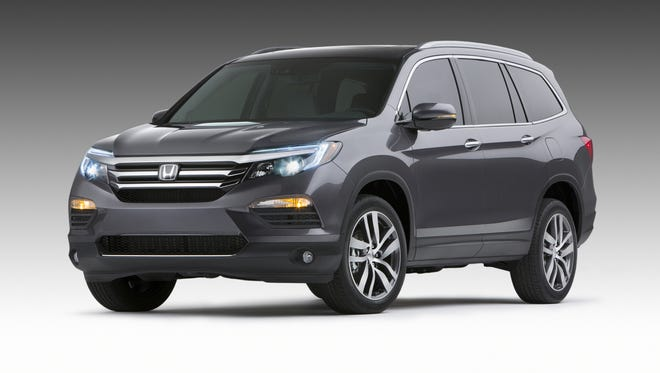 The redesigned 2016 Honda Pilot unveiled at the 2015 Chicago Auto Show.